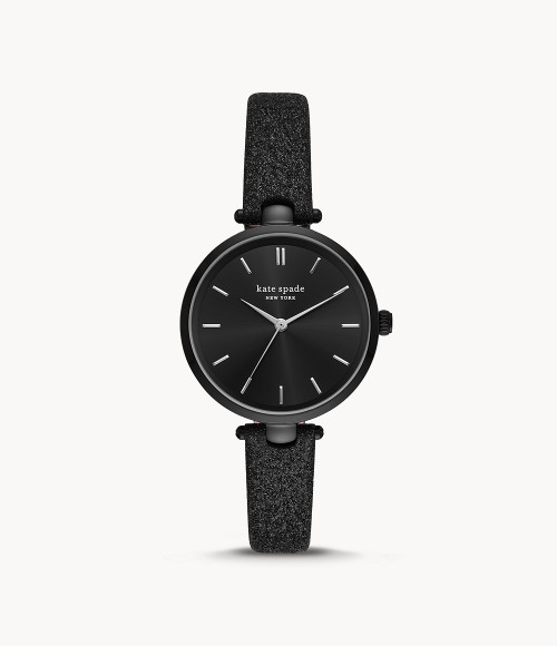 Kate Spade Watch with Black Glitter Band