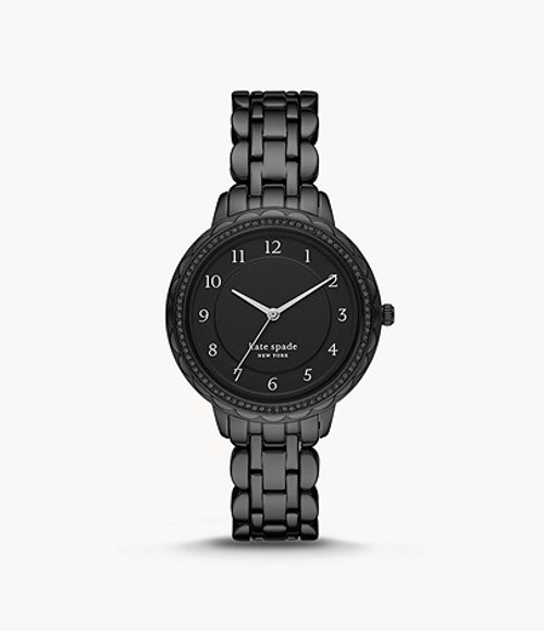 Kate Spade Watch with Black Stainless Steel Band
