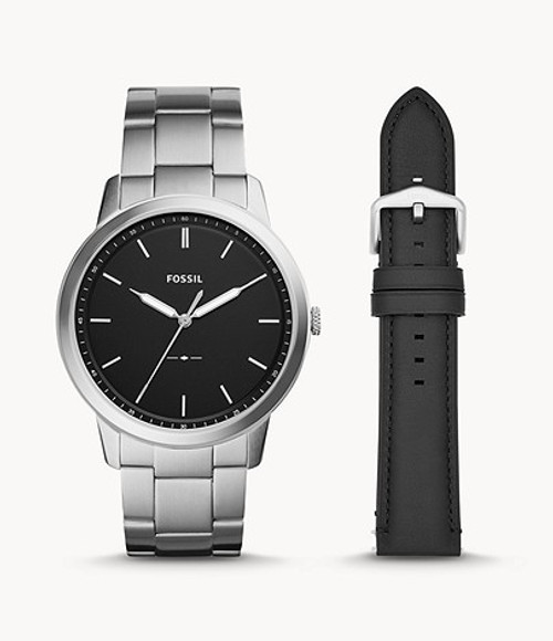 Fossil The Minimalist Three-Hand Interchangeable Strap Set