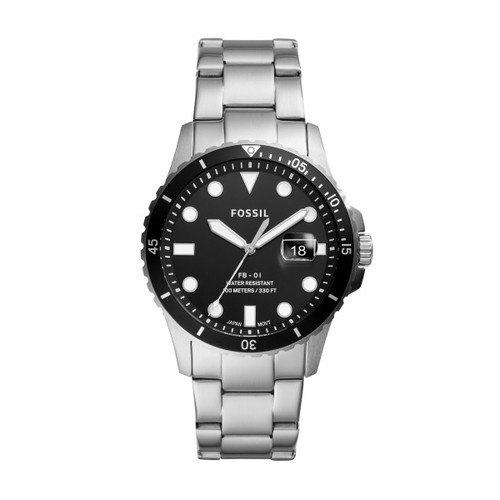 Fossil Stainless Steel 3-Hand Date Watch