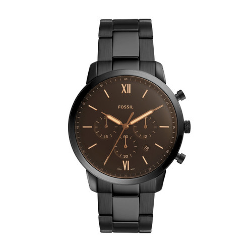 Fossil Chronograph Black Stainless Steel Watch
