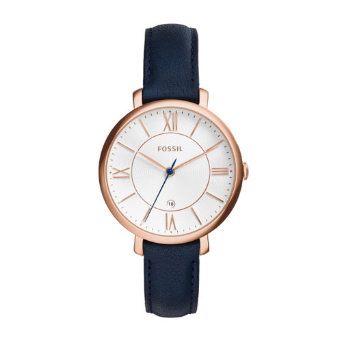 Fossil Jacqueline Navy Leather Watch