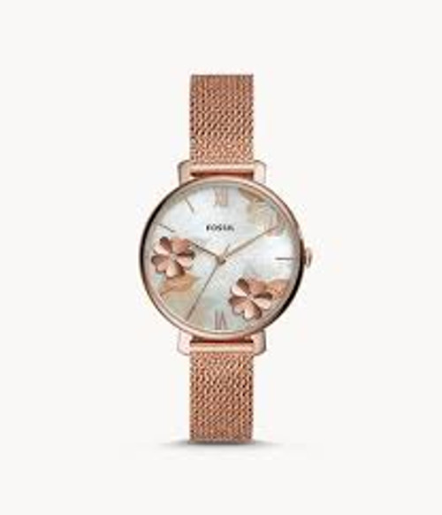 Fossil Jacqueline Three-Hand Rose-Gold-Tone Stainless Steel Watch
