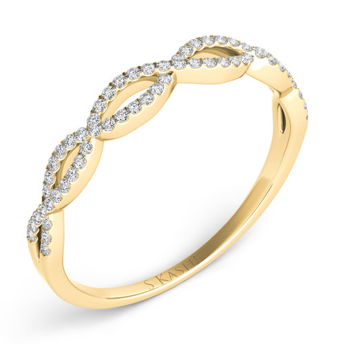 EN7325-BYG Twisted yellow gold diamond band
