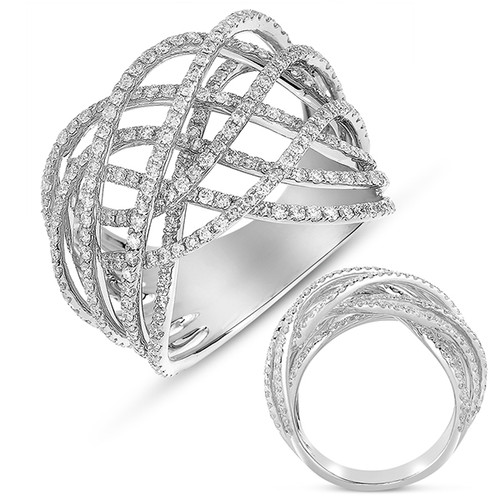 14kt White Gold and Diamond Fashion Ring