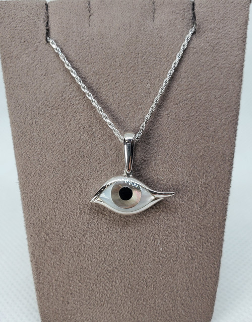 Kabana Evil eye Necklace with Bronze Mother of pearl