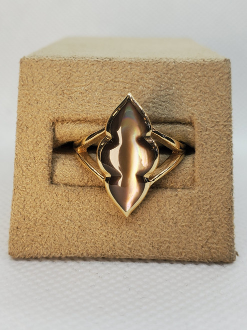Kabana Bronze mother of pearl ring