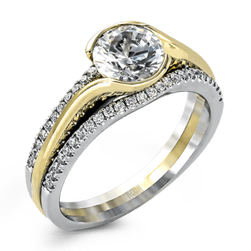 Zr1048 Engagement Ring 14k Gold White Semi