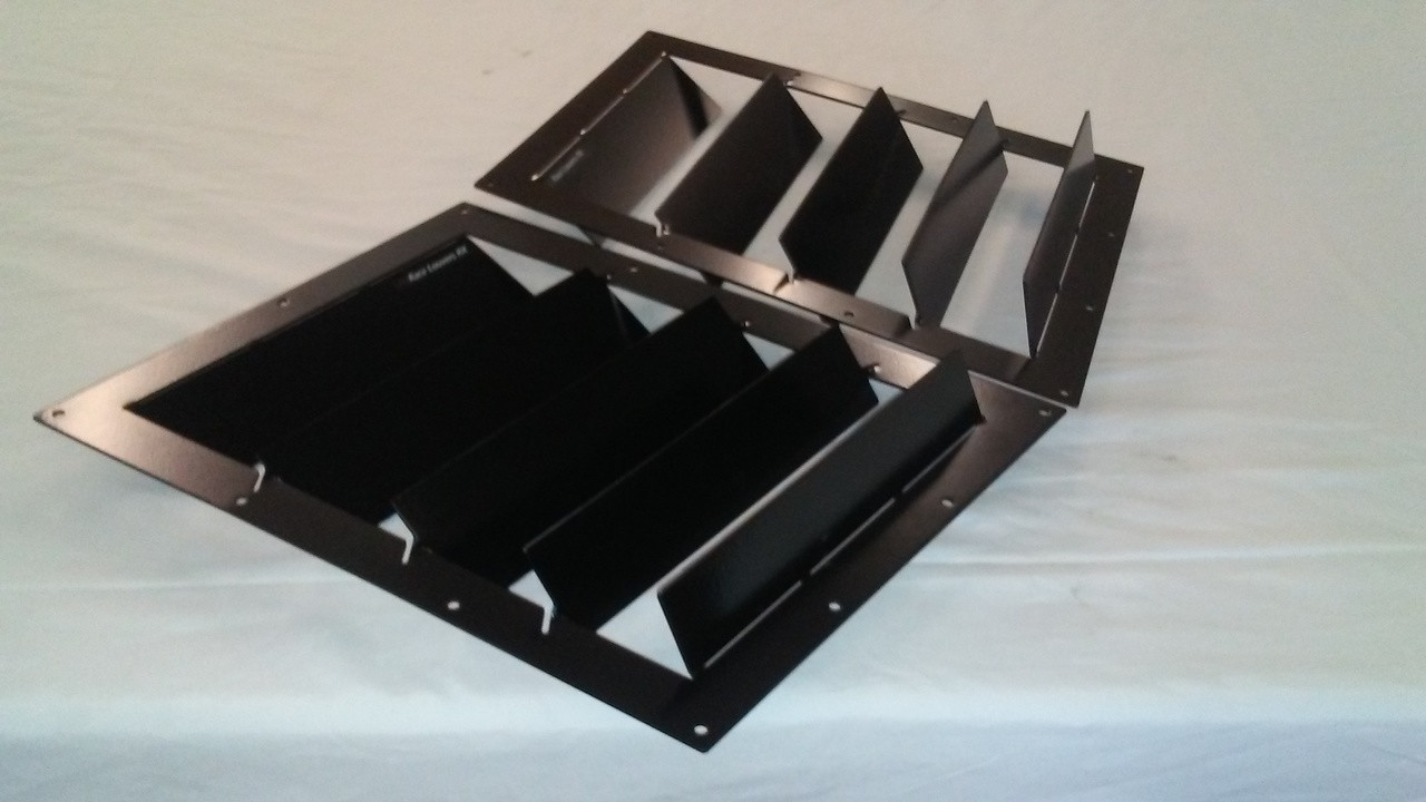 Race Louvers RX trim straight angular pair racing heat extractor is designed for high performance driving, auto cross and track duty.