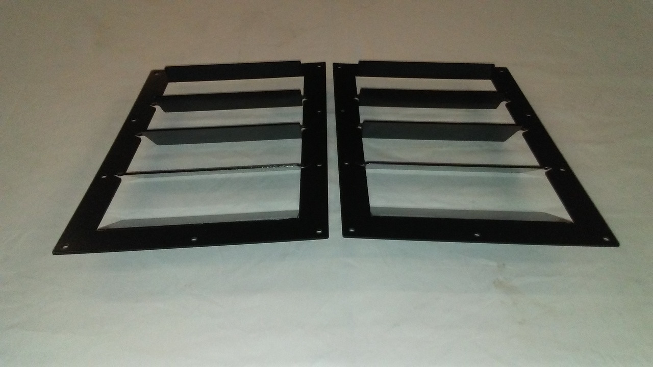 Race Louver RT trim center pair car hood extractor is designed for street, high performance driving and track duty.