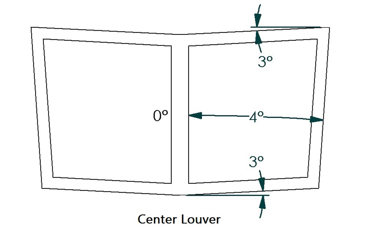 "Center Hood Louvers, 20""W x 11.5""D, RS Street Trim"