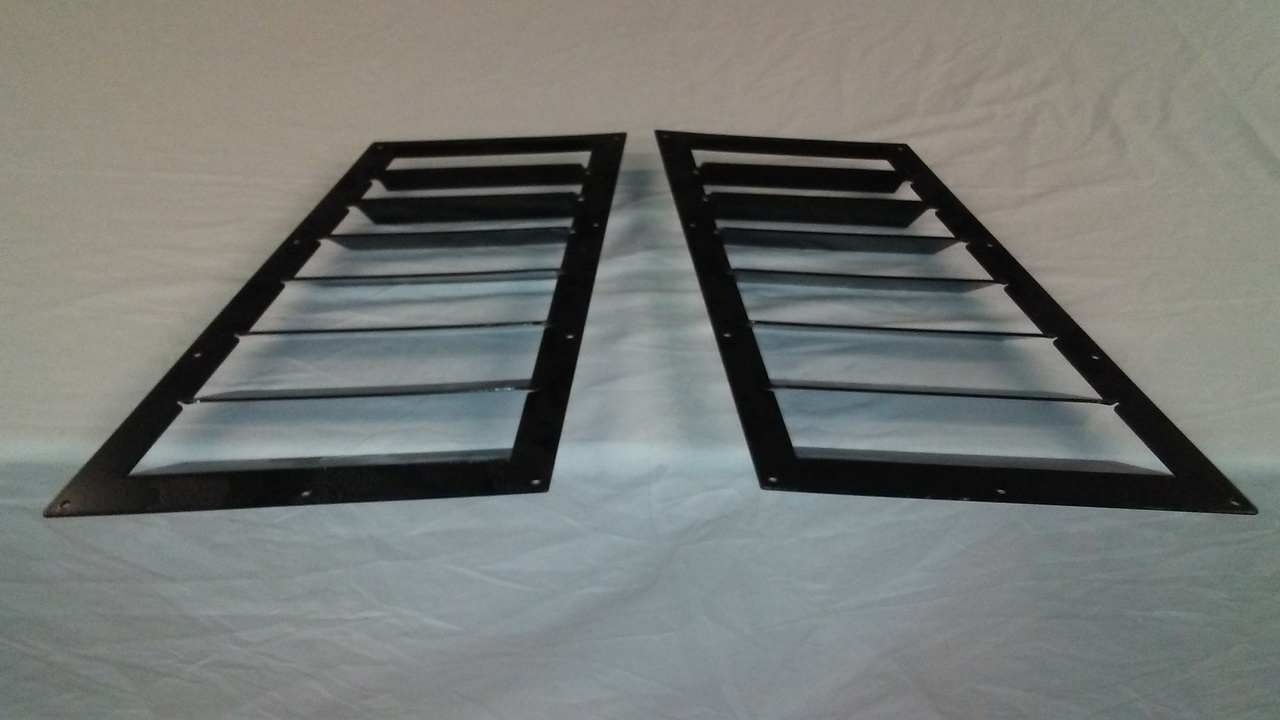 Race Louver NASA ST3-6 trim mid pair car hood vent designed to meet class rules while maximizing performance.