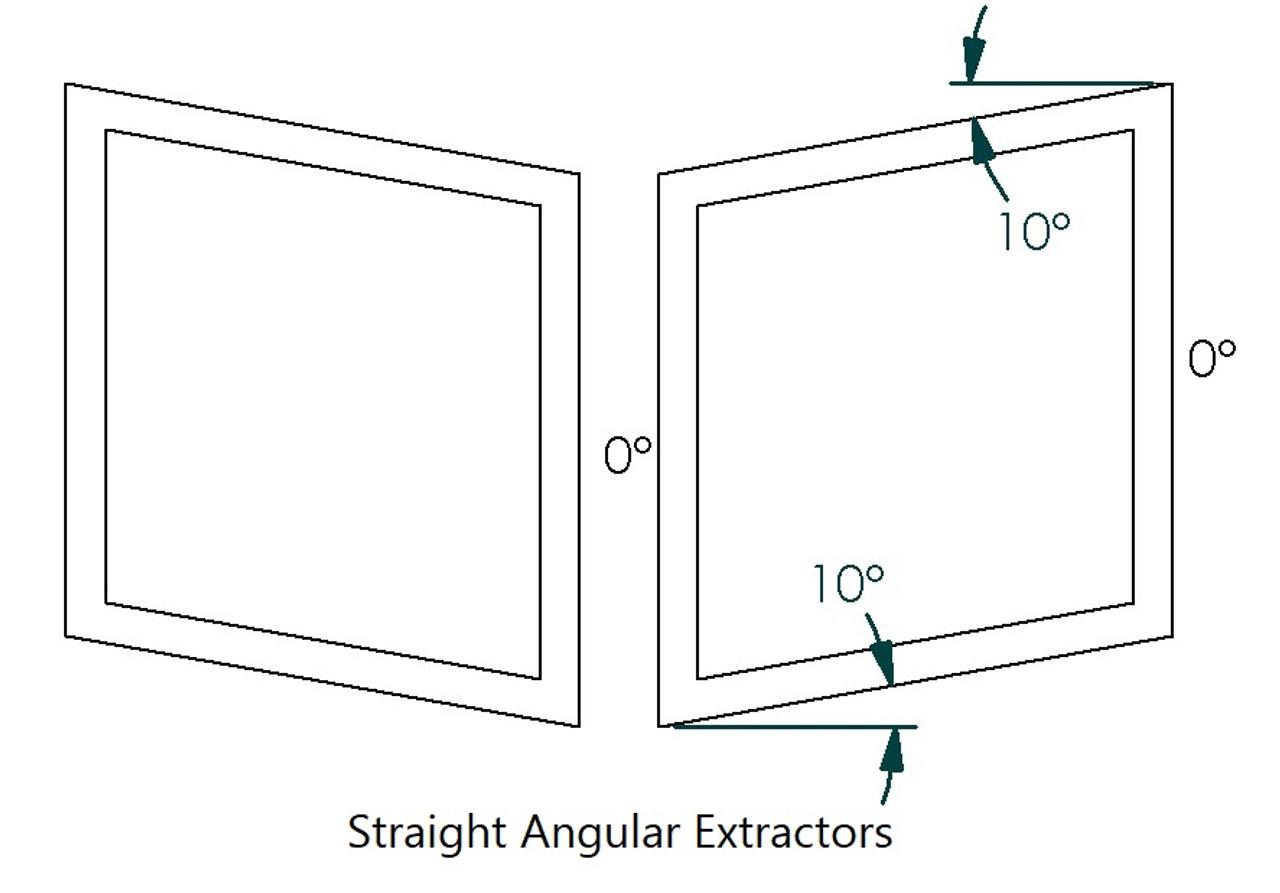 "NASA ST/TT3-6 Angular Hood Louvers Pair, 20"" W x 14""D"