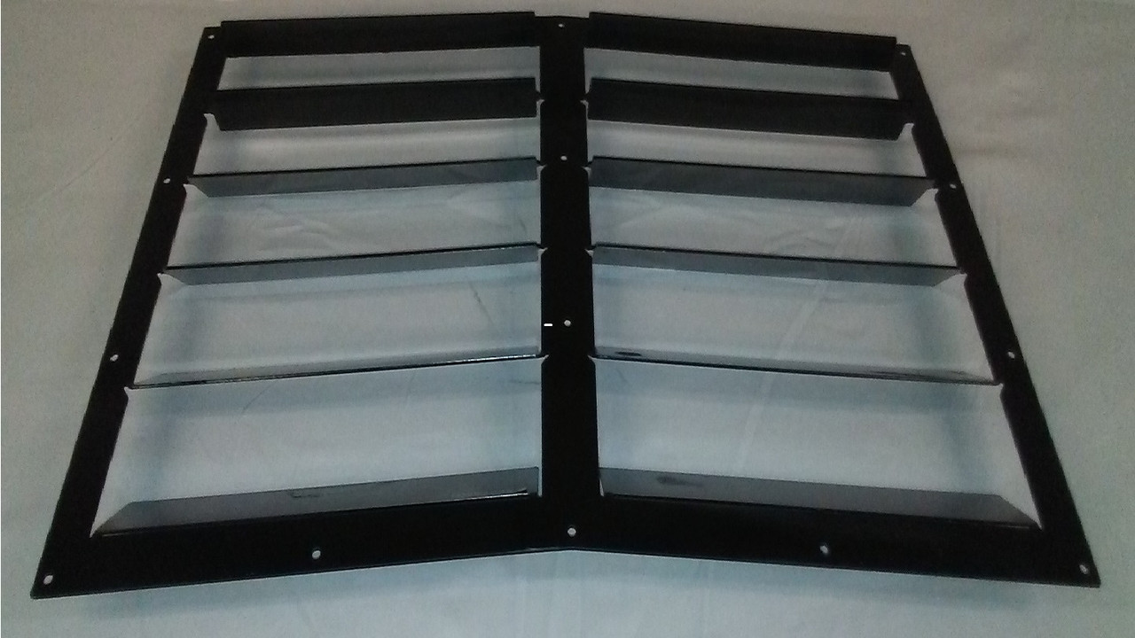 Race Louver BMW E30 84-91 RS Street Trim center car hood vent designed for street, high performance driving and light track duty.