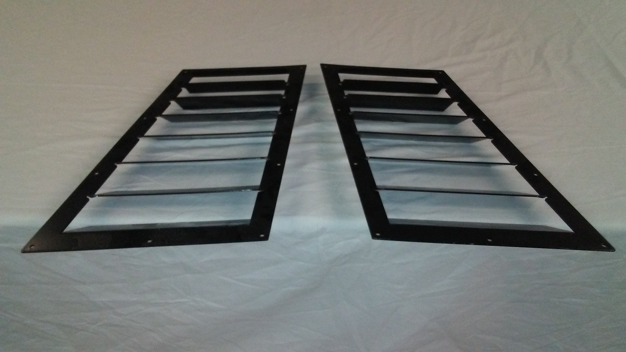 Race Louver BMW E30 84-91 RS trim mid pair car hood vent designed for street, high performance driving and light track duty.