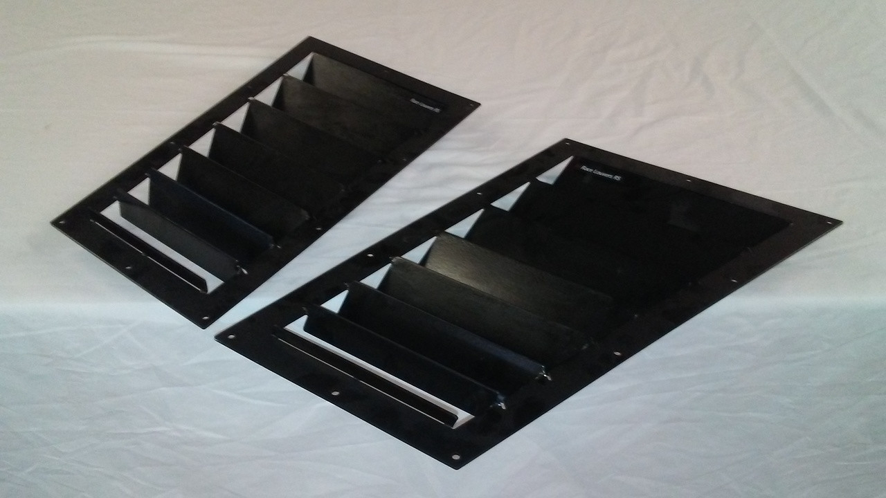 Race Louver Camaro 1993-1997 RS trim mid pair car hood vent designed for street, high performance driving and light track duty.