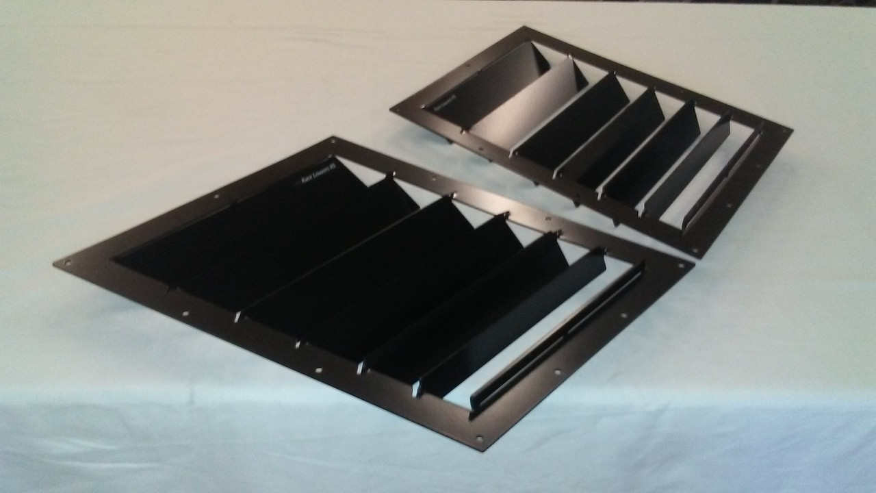 Race Louver 1998-2002 Camaro RS trim mid pair car hood vent designed for street, high performance driving and light track duty.