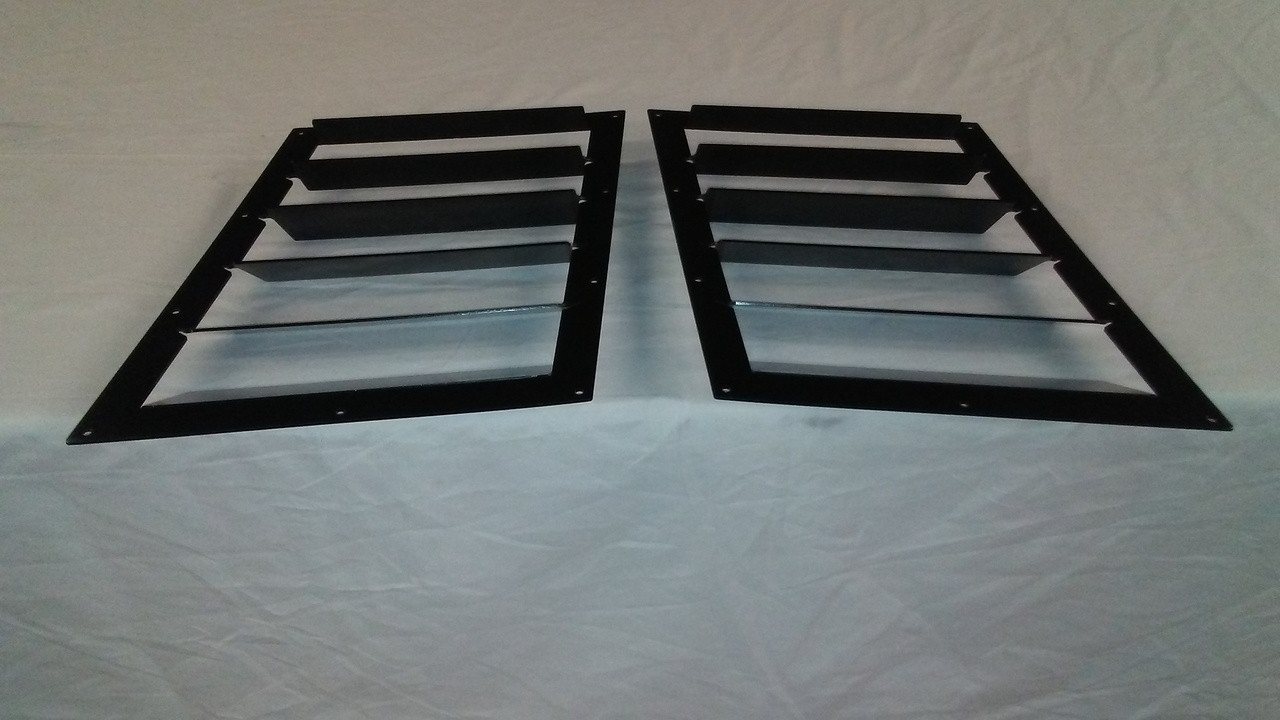 Race Louver 1998-2002 Camaro RT trim mid pair car hood extractor is designed for street, high performance driving and track duty.