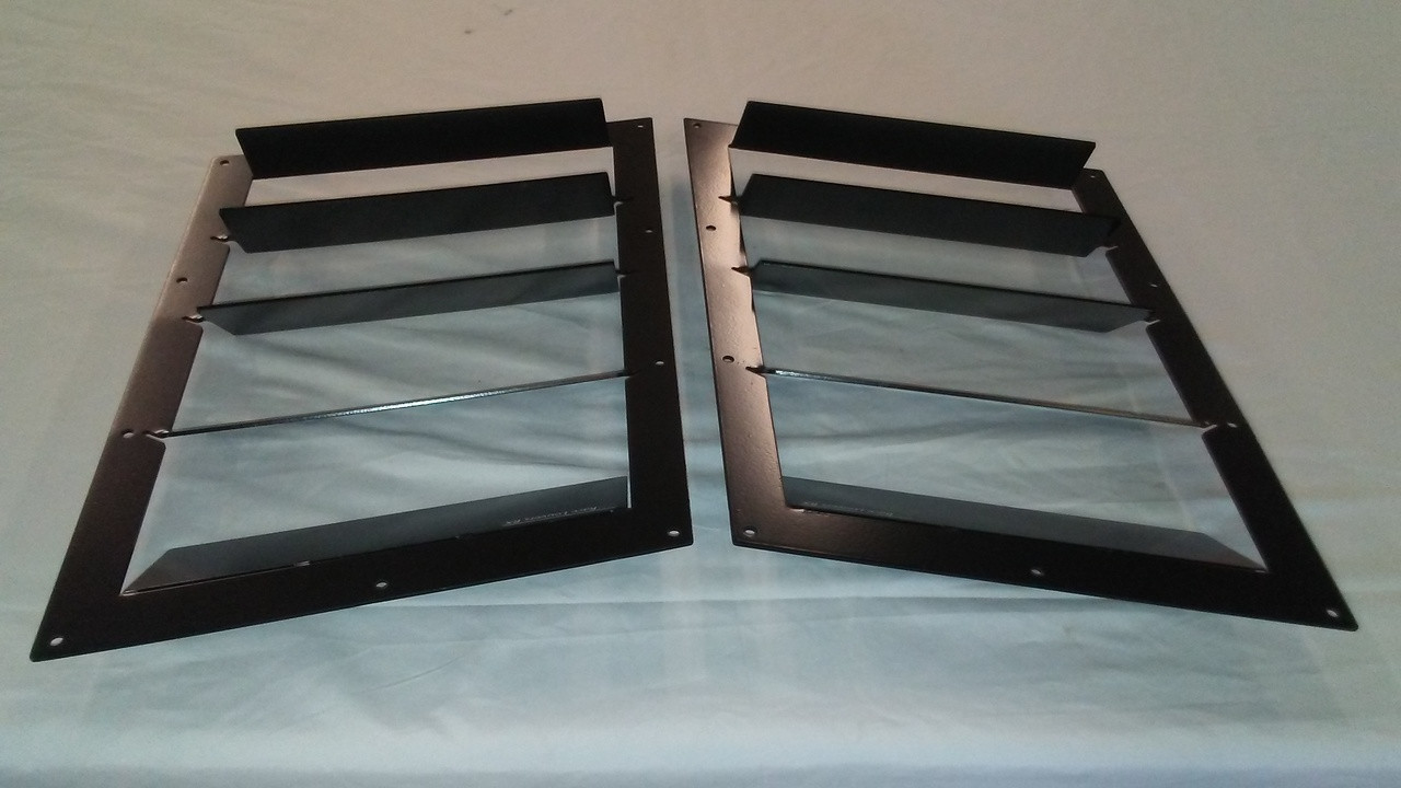 Race Louvers Camaro 2010-2015 RX trim straight angular pair racing heat extractor is designed for high performance driving, auto cross and track duty.