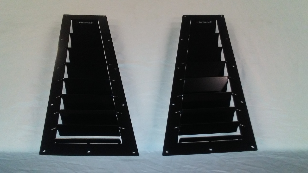 Race Louver Porsche 924/944 RS street trim side hood vent designed for street, high performance driving and light track duty.