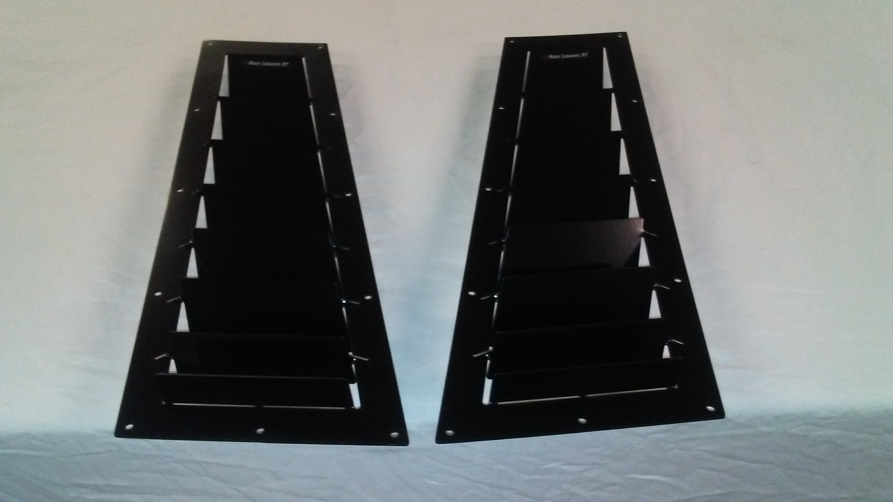 Race Louver Porsche 924/944 RT track trim side hood extractor is designed for street, high performance driving and track duty.