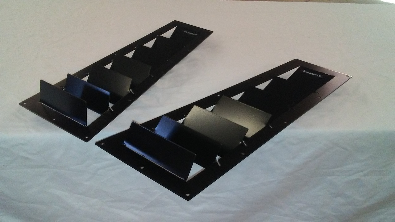 Race Louvers Porsche 924/944 RX extreme trim side pair racing heat extractor is designed for high performance driving, auto cross and track duty.