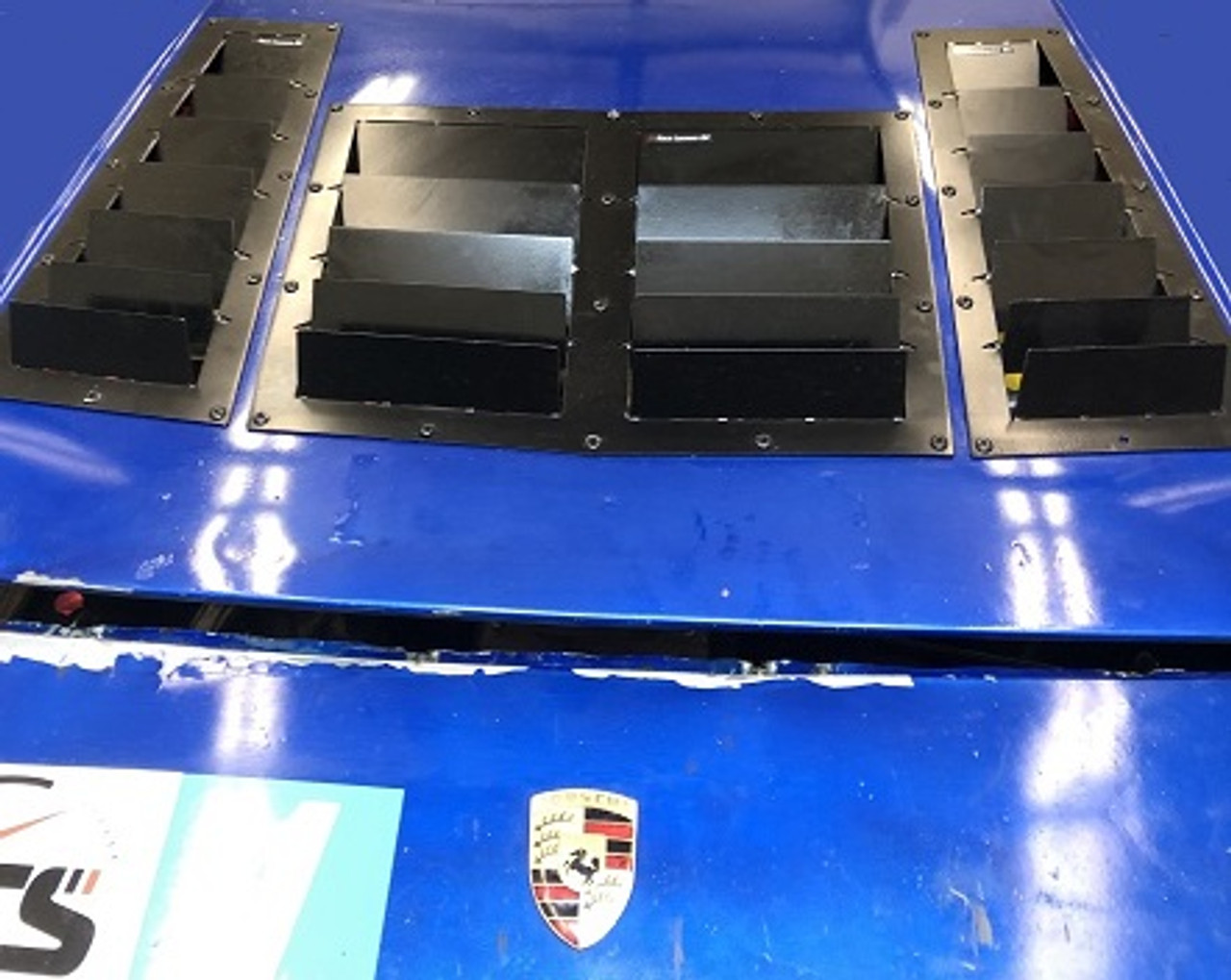 Race Louver Porsche 924/944 RS street trim center car hood vent designed for street, high performance driving and light track duty.