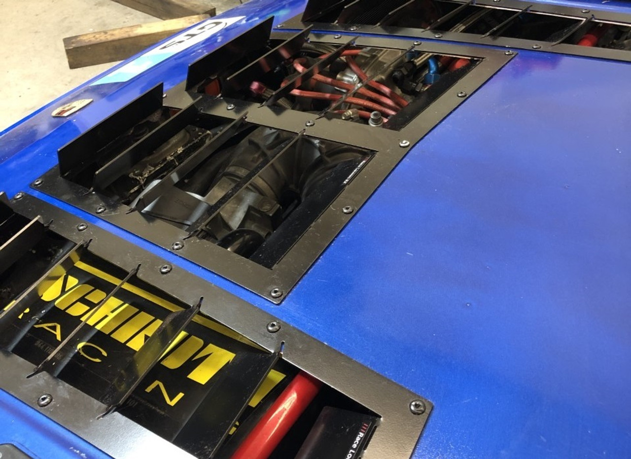 Race Louvers Porsche 924/944 RX extreme trim center racing heat extractor is designed for high performance driving, auto cross and track duty.