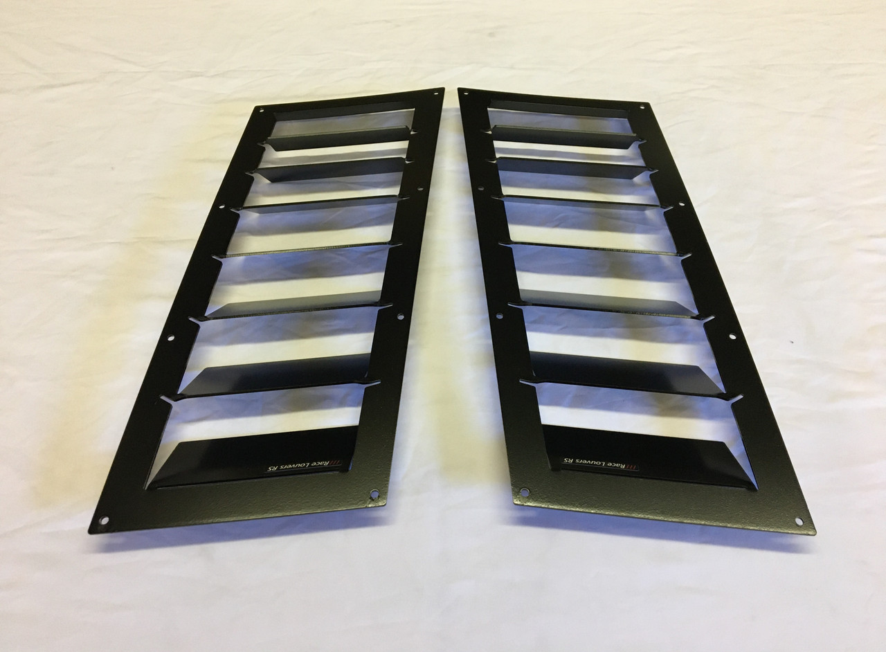 Race Louver '08-14 WRX RS trim straight angular pair car hood vent designed for street, high performance driving and light track duty.