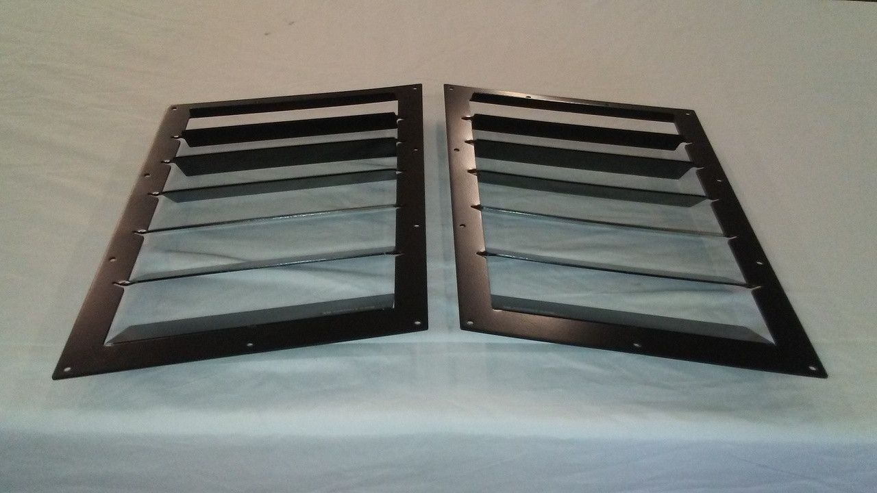 Race Louver '84-19 Civic RS trim straight angular pair car hood vent designed for street, high performance driving and light track duty.