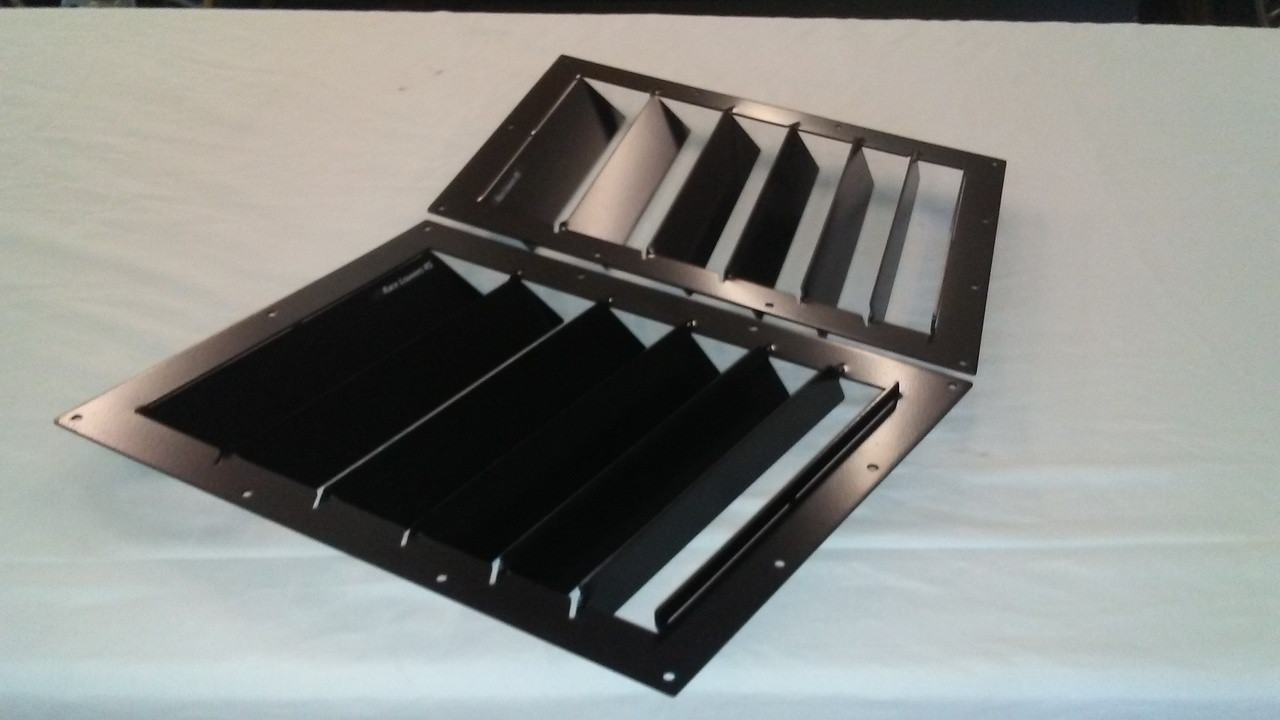 Race Louver '84-19 Civic Nasa ST/TT3-6 Spec straight angular pair car hood vent designed for street, high performance driving and light track duty.