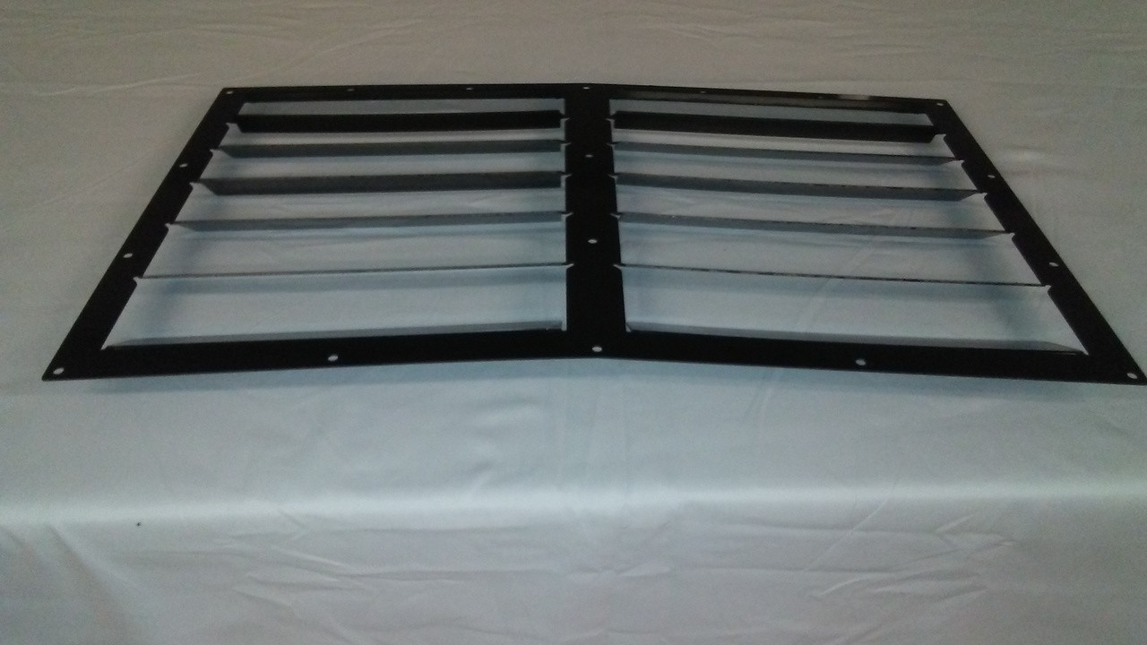Race Louver Porsche 924/944 Nasa ST/TT3-6 Spec center car hood vent designed for street, high performance driving and light track duty.