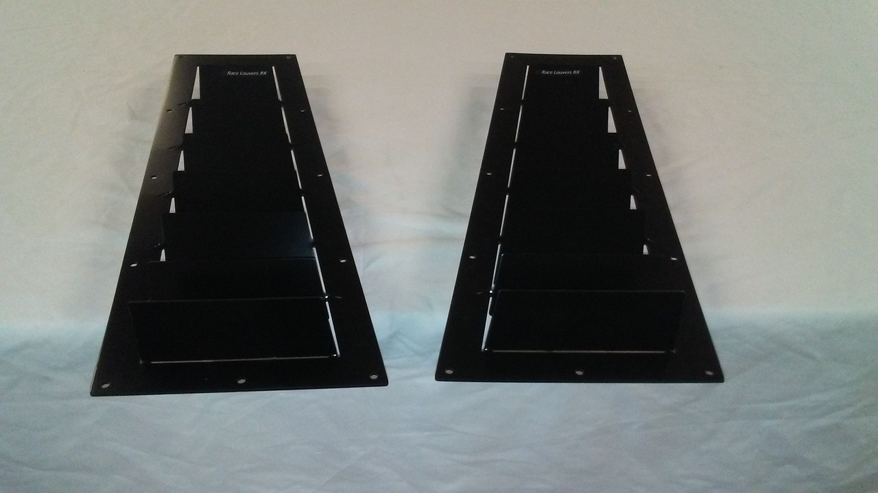 Race Louvers Camaro RX extreme trim side pair racing heat extractor is designed for high performance driving, auto cross and track duty.