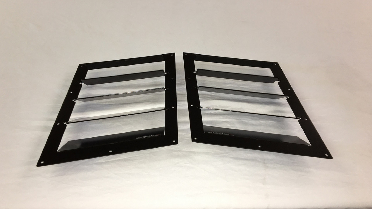 Race Louver Fiesta ST RT trim middle pair car hood vent designed for street, high performance driving and light track duty.