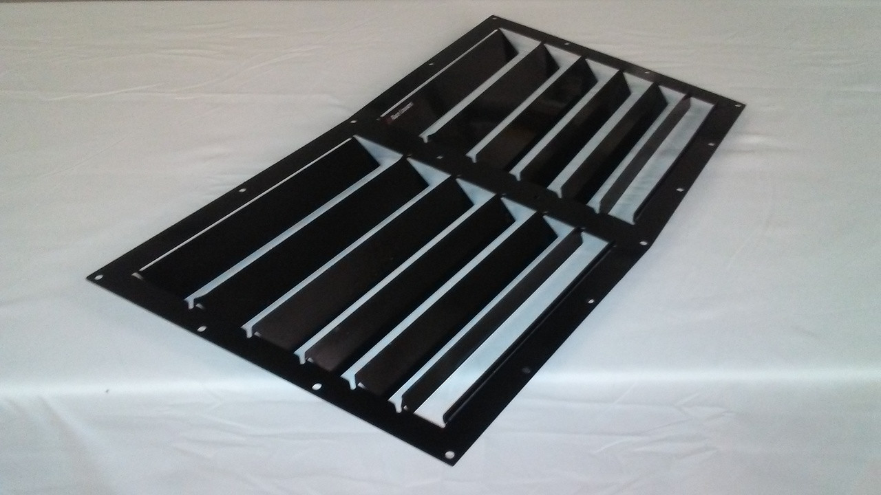 Race Louver C6 Corvette RS trim center car hood vent designed for street, high performance driving and light track duty.