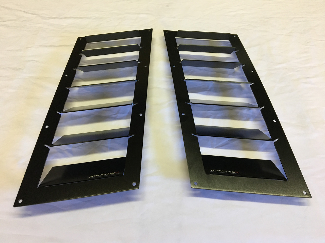 Race Louver C6 RT trim straight angular pair car hood extractor is designed for street, high performance driving and track duty.
