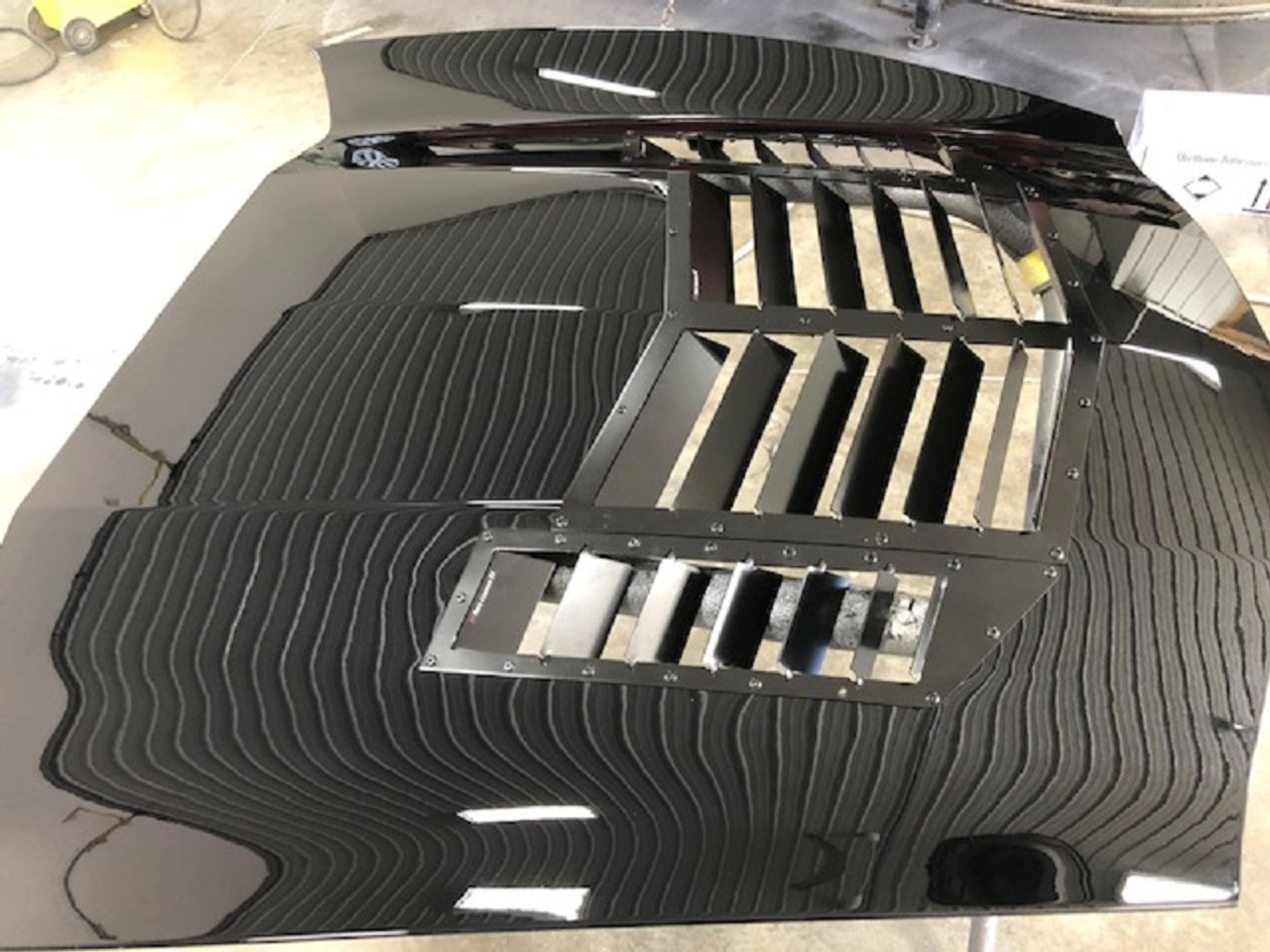 Race Louver C7 Corvette RT trim center car hood extractor is designed for street, high performance driving and track duty.