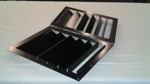Race Louver RS trim straight angular pair car hood vent designed for street, high performance driving and light track duty.