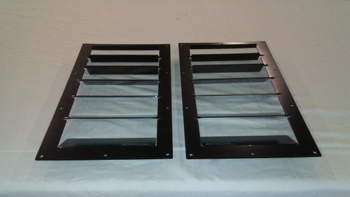Race Louver RS trim straight pair car hood vent designed for street, high performance driving and light track duty.