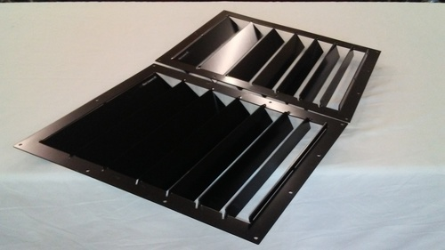 Race Louver RS trim center pair car hood vent designed for street, high performance driving and light track duty.