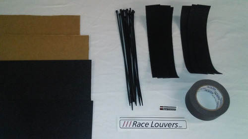 Race Louvers Grill Blocker Kit is designed to extract maximum front downforce from our RS, RT or RX trim hood extractors by limiting the amount of air entering the cars front grill to only enough for sufficient cooling.