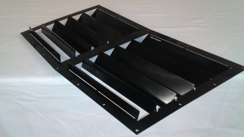 Race Louver Mustang 87-93 RT trim center car hood extractor is designed for street, high performance driving and track duty.