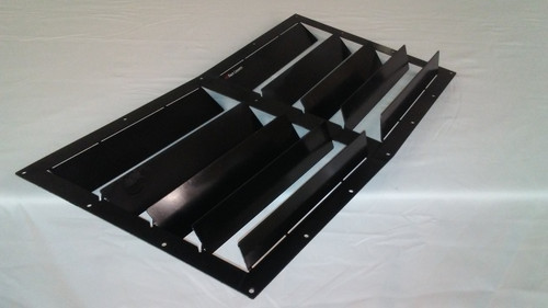 Race Louvers RX trim center racing heat extractor is designed for high performance driving, auto cross and track duty.