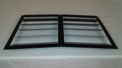Race Louver RT trim center car hood extractor is designed for street, high performance driving and track duty.