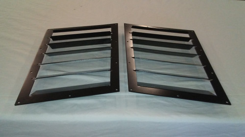 Race Louver Camaro 2010-2015 RS trim straight angular pair car hood vent designed for street, high performance driving and light track duty.