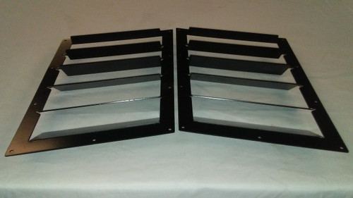 Race Louver Camaro 2010-2015 RT trim straight angular pair car hood extractor is designed for street, high performance driving and track duty.