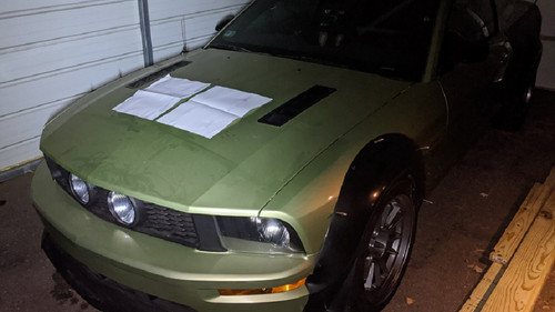 Race Louver 2005-2009 Mustang RS trim center pair car hood vent designed for street, high performance driving and light track duty.