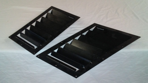 Race Louver BMW E46 RS trim mid pair car hood vent designed for street, high performance driving and light track duty.