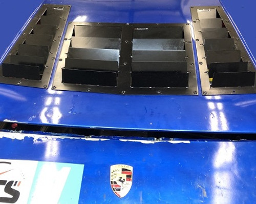 Race Louver Porsche 924/944 RT track trim center car hood extractor is designed for street, high performance driving and track duty.