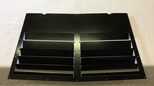 Race Louver '04-05 Subaru WRX Scoop Delete RT trim straight angular pair car hood extractor is designed for street, high performance driving and track duty.